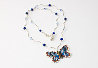 """Alcon Blue Butterfly"" Necklace alternative view 1"