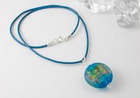 Stone Tumbled Turquoise Pendant Necklace