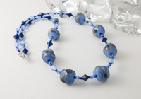 Blue Nugget Glass Lampwork Necklace alternative view 1