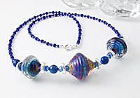 Lampwork Bicone Necklace