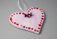 Lilac Ceramic Heart Hanging