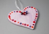 Lilac Ceramic Heart Hanging