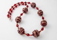 Red and Gold Lampwork Necklace alternative view 1