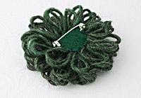 Dark Green Flower Brooch alternative view 1