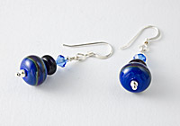 Hand made Blue Earrings