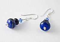 Hand made Blue Earrings