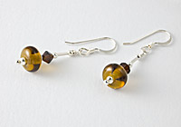 Hand made Soft Brown Earrings