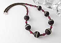"""Rose Truffle"" Lampwork Necklace"