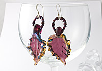Lampwork Leaf Earrings