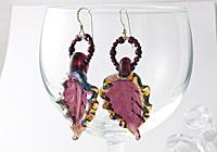 Lampwork Leaf Earrings