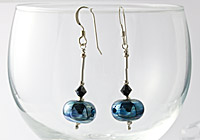 Metallic Lampwork Earrings