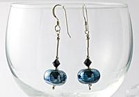 Metallic Lampwork Earrings