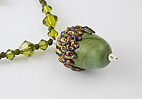Acorn Lampwork Necklace