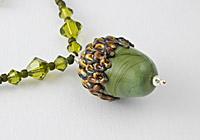 Acorn Lampwork Necklace