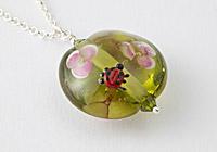 Ladybird Lampwork Pendant