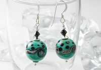 Celadon Green Lampwork Earrings