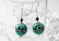 Celadon Green Lampwork Earrings