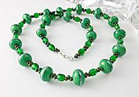 Emerald Green Lampwork Necklace