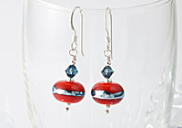 Burnt Orange Lampwork Earrings