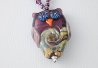 Purple Lampwork Owl