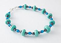 Turquoise Lampwork Bracelet