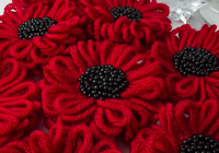 Red and Black Flower Brooch alternative view 2