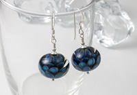 Dahlia Lampwork Earrings