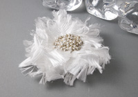Fluffy White Flower Brooch
