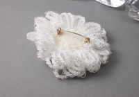 White Flower Brooch alternative view 1