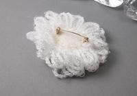 White Flower Brooch alternative view 1