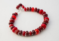 Red Lampwork Bracelet alternative view 1
