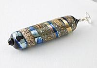 Black Organic Lampwork Pendant