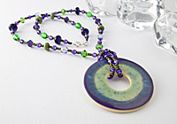 Purple and Green Pendant Necklace