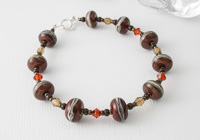 Rich Brown Lampwork Bracelet