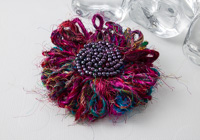 Sari Silk Flower Brooch