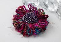 Sari Silk Flower Brooch