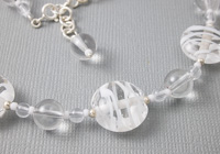 """Ice"" Lampwork and Silver Necklace alternative view 2"