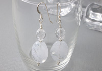 """Cloud"" Beaded Earrings alternative view 2"