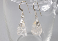 """Ice"" Quartz Earrings"