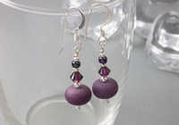 Tumbled Purple Earrings