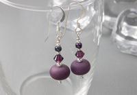 Tumbled Purple Earrings