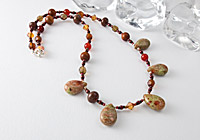 Unakite Gemstone Necklace alternative view 1