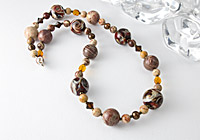 Lampwork and Silver Riban Jasper Necklace alternative view 1