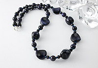 """Pinpoint Sparkle"" Blue Goldstone Necklace alternative view 1"