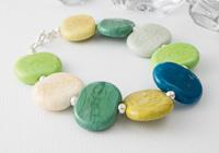 Green Pebble Lampwork Bracelet