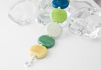Green Pebble Lampwork Bracelet alternative view 1