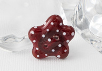 Red Lampwork Button