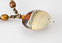 Amber Lampwork Necklace alternative view 1