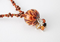 Rusty Dahlia Lampwork Necklace