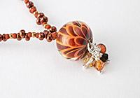 Rusty Dahlia Lampwork Necklace